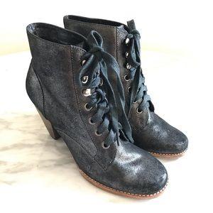 Jeffrey Campbell Black Metallic Ankle Booties